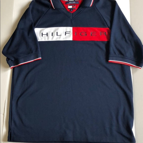 3f42fdab Vintage Tommy Jeans Hilfiger Soccer Jersey. M_5b41355ed6dc527932267122
